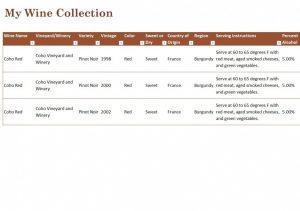 inventory spreadsheet template wine cellar inventory x