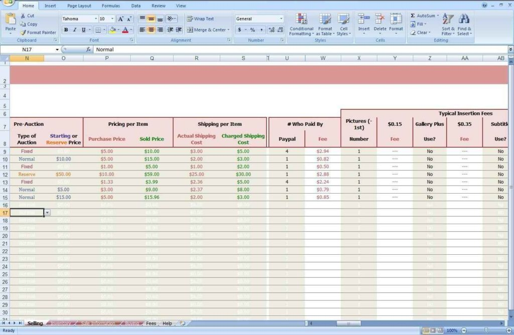 inventory tracking spreadsheet