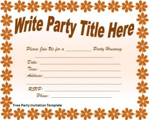 invitation templates word free party invitation template