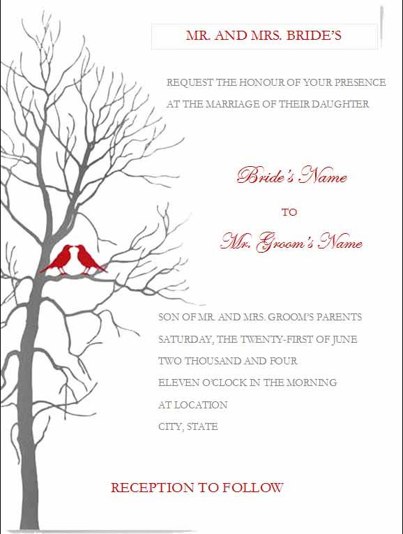invitation templates word