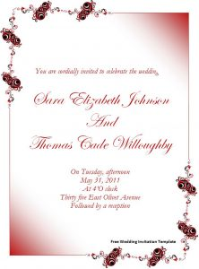 invitation templates word free wedding invitation template