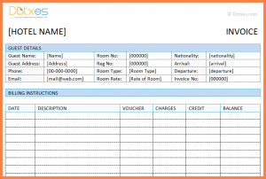 invoice template download hotel invoice format excel hotel invoice template in microsoft word featured image