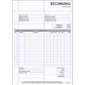 invoice template download windowinvoice rechnungstemplate einseitige rechnung
