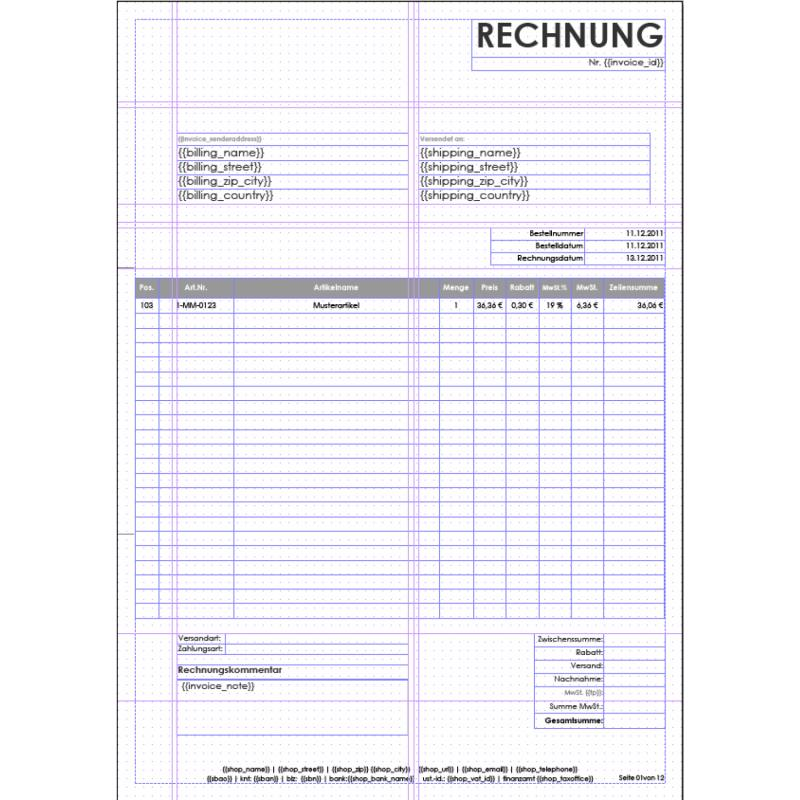 invoice template download