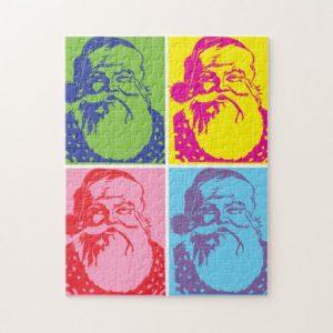 jig saw puzzle template santa pop art merry christmas jigsaw puzzle reefbfbff ambn byvr