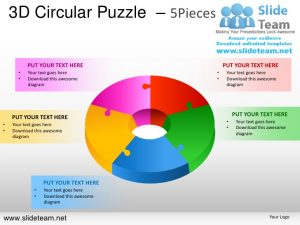 jigsaw puzzle templates d cycle circular round jigsaw maze piece puzzle pieces powerpoint presentation slides