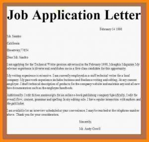 job application email template sample of an application letter for employment application letter for job employment jobapplicationletter