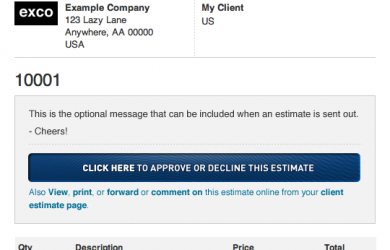 job estimate template job estimate template