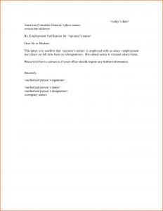 job letter sample employment verification letter template