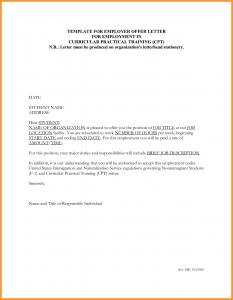 job letter sample template for employer offer letter for employment