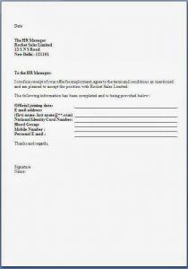 job offer acceptance letter job offer acceptance letter format