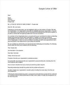 job offer letters formal offer letter template