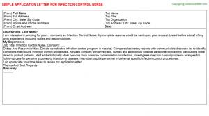 job offer letters infection control nurse application letter