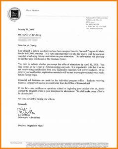 job offer letters university admission offer letter sample