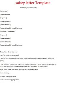 job offer negotiation letter sample salary letter template
