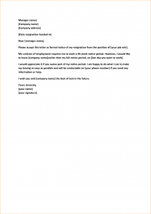 job proposal example weeks notice job template