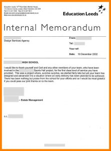 job proposal example internal memo examples