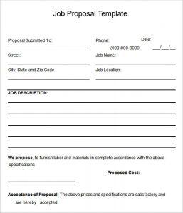 job proposal template proposal template free word