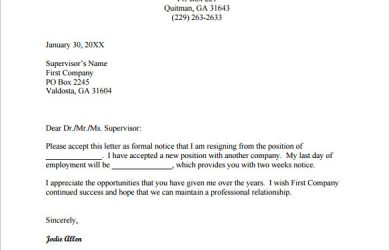 job resignation letter free job change resignation letter pdf download