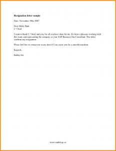 job resignation letter job resignation letter sample