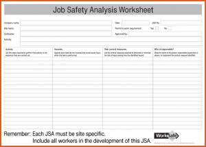 job safety analysis form job hazard analysis form job safety analysis jsa form for pdf