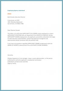 job verification letter employment verification letter for word