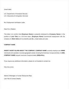 job verification letter letter of employment verification