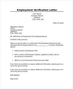 job verification letter professional employment verification letter