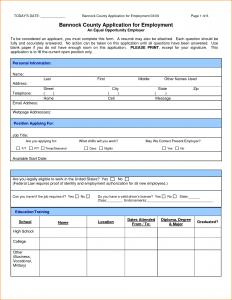 jobs application sample application form for a job sample