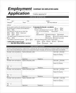 jobs application sample employment job application sample