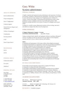 junior web developer resume pic systems administrator cv template