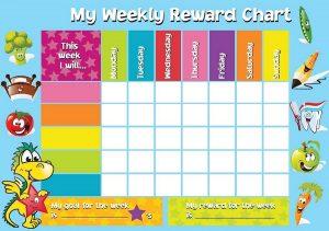 kids menu template reward chart template weekly