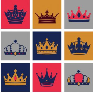 king crown template crown vector set for free download