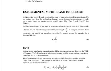 lab report template engineering lab report template