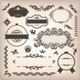 label design free vintage classic design label elements