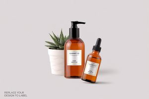 label templates free free cosmetic mockup pack