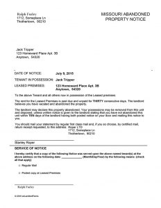 landlord letter to tenant move out