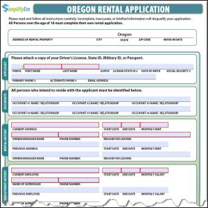 landlord letter to tenant move out oregon rental application screenshot