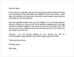 landlord recommendation letter business reference letter