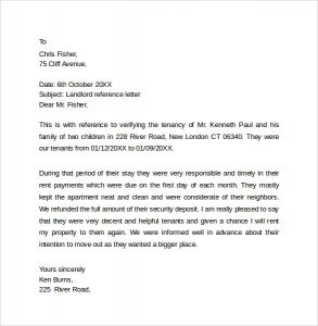 landlord reference letter landlord reference letter sample template