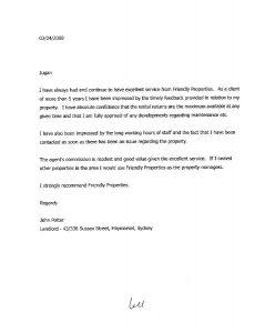 landlord reference letter reference letter from john potter