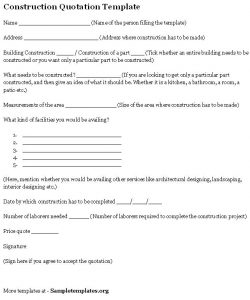 landscaping contract template construction quotation template