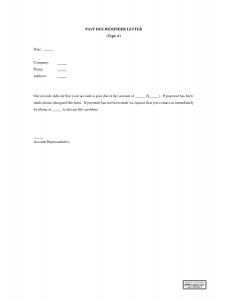 late rent payment letter past due invoice letter template qhzubxv