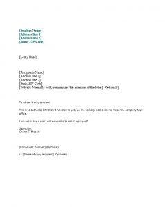 law firm letterhead authorization letter