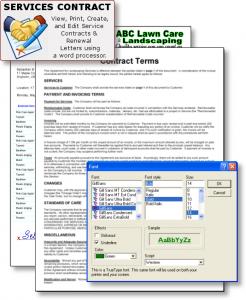 lawn maintenance contract landscape contractor software