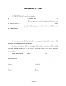 lease abstract template amendment to lease
