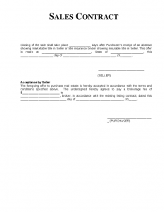 lease abstract template sales contract template