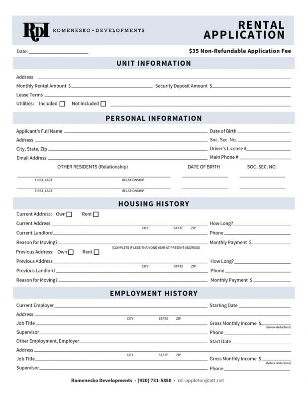 lease agreement for house