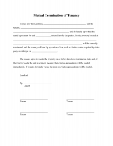 lease cancellation letter lease agreement termination letter template