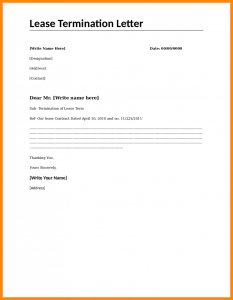lease termination letter to tenant rental termination letter lease termination letter template